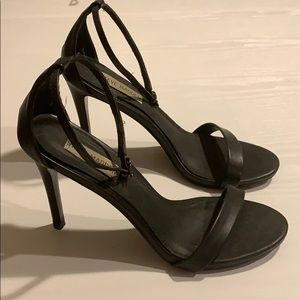 steve madden black stecy sandals heels
